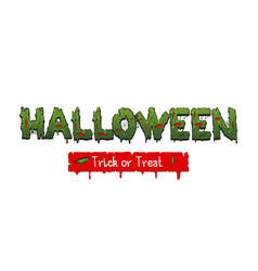 happy halloween party comic text font pop art vector image