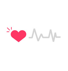 Healthy alive heart beat icon with vector
