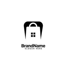 Home store logo design inspiration vector