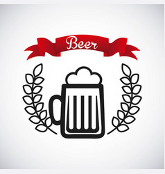 Ice cold beer emblem vector