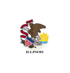 Illinois state flag vector