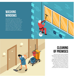 Industrial cleaning service vector