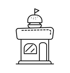 Isolated object kiosk and burger symbol vector