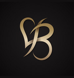 letter b love vector image
