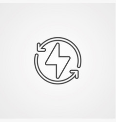 lightning icon sign symbol vector image
