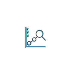 line chart icon design marketing icon line vector image