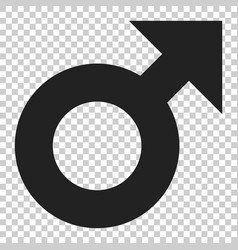male sex symbol icon in flat style men gender on vector image