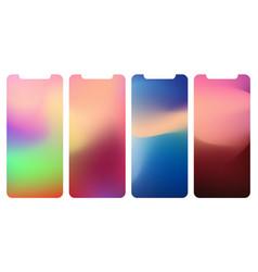 modern ui gui screen design for mobile app vector image