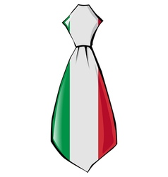 Necktie in national colours of Italy vector