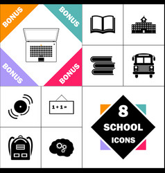 Netbook computer symbol vector