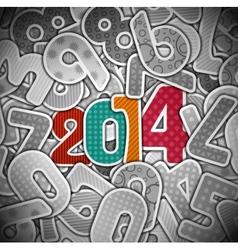 New 2014 year vector