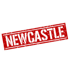 Newcastle red square stamp vector