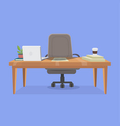 office working place vector image