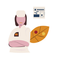 online medical help line icon female doctor is vector image