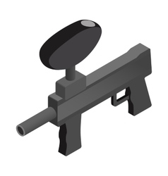 Paintball marker isometric 3d icon vector image