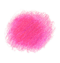 Pink crayon scribble texture stain isolated on vector