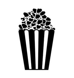 Popcorn box icon vector