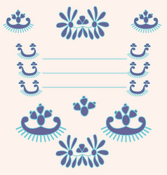 Postcard with ornament blue background vector