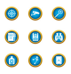 Preservation icons set flat style vector