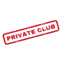 Private Club Rubber Stamp vector image