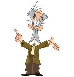 professor cartoon vector image