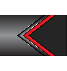 red dark grey metallic arrow circle mesh vector image