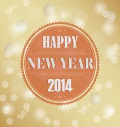 Retro New Years wish background vector image