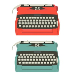 Retro typewriter set vector