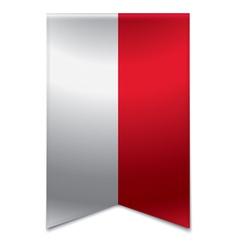 Ribbon banner - monegasque flag vector image