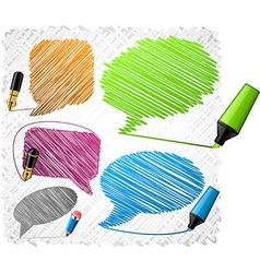 Scribbled speech shapes vector