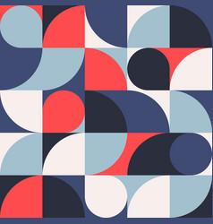 seamless red-blue abstract geometric print vector image