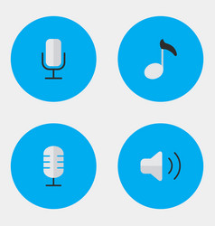 set of simple icons element vector image