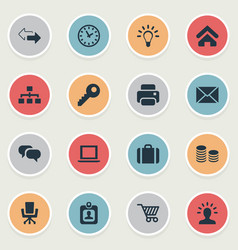 set simple trade icons vector image
