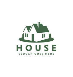 simple house home logo icon vector image
