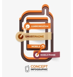 smartphone icon infographic concept vector image