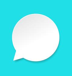 Speech bubble icon flat cartoon empty or vector