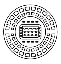 sport stadium icon outline style vector image