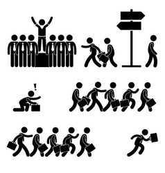 standing out crowd successful business vector image