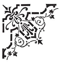 Stencils is a corner design vintage engraving vector