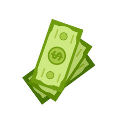 Stock dollars isolated investment money cash vector