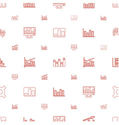 stock icons pattern seamless white background vector image