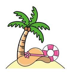 summer beach cartoon vector image