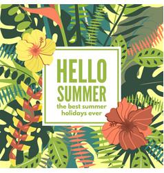 Summer hawaiian tropical poster vector