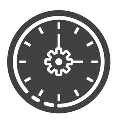 time management glyph icon seo and development vector image