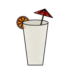 tropical cocktail isolated icon vector image