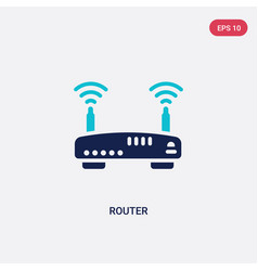 Two color router icon from electrian connections vector