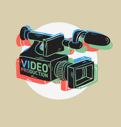 Video production rgb layered design with isolated vector