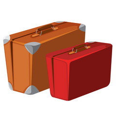 Vintage luggage on white background vector