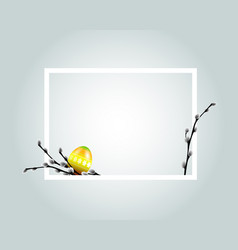 White frame with easter motive vector
