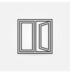 Window outline icon vector
